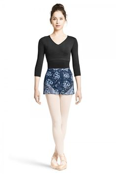 Floral Printed Mesh Wrap Skirt Fabric: 89% Polyester 11% Spandex Jersey