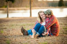 Family Farm South Carolina Engagement My cousin took these for her sister, seen in this picture, for their engagement photos. Love these!
