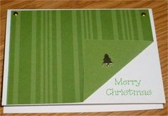 Fast and easy...I would use a christmas printed two sided paper