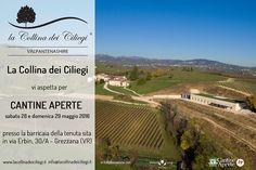 Cantine Aperte 2016: alla scoperta del Valpantenashire! Sabato 28 e domenica 29 maggio vi aspettiamo nella nostra tenuta di Erbin (Grezzana)! Una due giorni dedicata alla scoperta dei nostri vini e del nostro meraviglioso territorio della Valpantena.