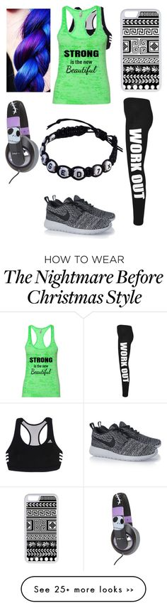 """My workout outfit"" by fluffypunkk on Polyvore featuring adidas, WearAll, NIKE, Burton and CellPowerCases"