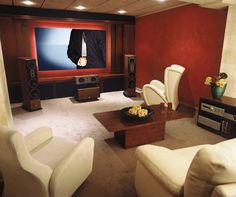 Home theater.  My dream apartment would feature a high end home theater system.  This home theater design is sleek and stylish and at the same time can provide the real feel and experience of movie theater.
