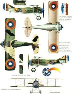 SPAD S.XIII C1 'Smith IV' Unit: 22nd Aero Squadron, US Air Corps, AEF Serial: 20 (S7689) This aeroplane was flown by two different pilots an...