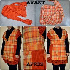 made in Liochka: Transformer une chemise et un pull en tunique.