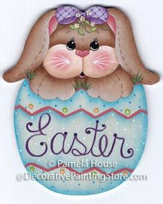 The Decorative Painting Store: Bunny's Easter Egg by Pamela House, Newly Added Painting Patterns / e-Patterns