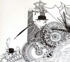 Alice in Wonderland.Illustrator Ralph Steadman