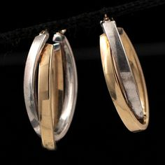 Shop 14 KYG and SSilver Oval Hoop Earrings and other jewelry, art, coins, rugs and real estate at www.aantv.com