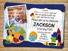 Printable Art Paint Party Birthday Invitaiton  by SparetimePrints, $11.00