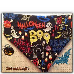 Halloween Reversible Dog Bandana by ZoeandBenjis on Etsy