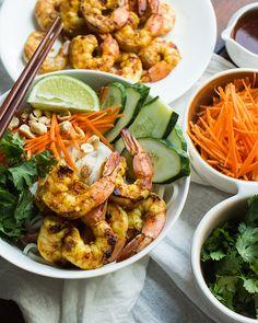 Vietnamese BBQ Shrimp Noodle Bowl by The Adventures of MJ & Hungryman