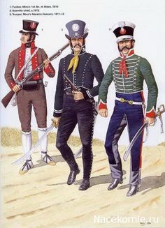 Spanish Army of the Napoleonic Wars (2) 1808-1812 1-Fusilier Minas 1st brigade of Alves 1810 2-Guerilla chief 1812 3-Trooper, Mina's Navarra Hussars 1811-12