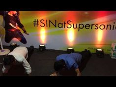 Push Up Competitions at #Vh1Supersonic Steve Aoki's Arcade, Mumbai! #SINatSupersonic