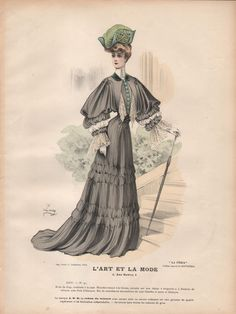 French Fashion Plate from L Art Et La Mode of 1903