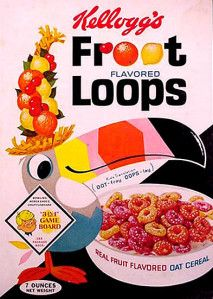 Froot Loops cereal box 1960
