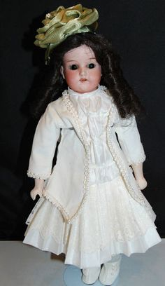 Antique Bisque Head Doll Old Body Armand Marseille 370 Dep German Germany | eBay