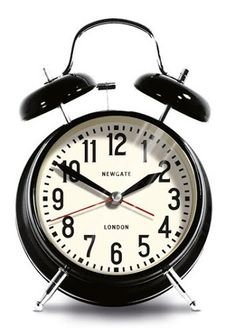 Medium London Alarm Clock - Black design by Newgate