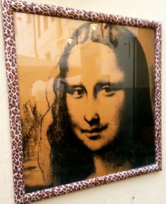 Mona Lisa in leopard frame