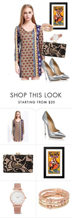"""""""dress"""" by masayuki4499 ❤ liked on Polyvore featuring Casadei, Love Moschino, Larsson & Jennings and Henri Bendel"""
