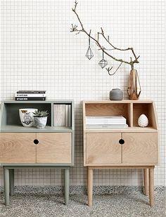Side table wood by HÜBSCH Interior - HÜBSCH INTERIOR CAR furniture
