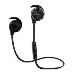 LeadTry E12 Bluetooth Headphones with Bluetooth CSR 4.1, CVC6.0 Noise Cancellation, Wireless In-Ear Headphones Sports Running Stereo Earbuds, 8 Hours Playtime, Built-in Mic (Black). *High Quality Sound*: With Advanced APTX tech, our in-ear design offers incredible sound quality with deep bass and crystal clear treble, no matter your taste in music. Works great for soundtracks, audio books, relaxing sounds, and even techno music. *Noise Cancellation Technology*: Built-in microphone with...