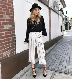 Striped pants. Yes, please!