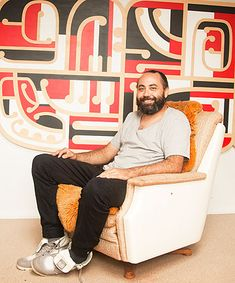 A RESPONSIBILITY: Ngatai Taepa sits in front of his latest work, a commemorative piece commissioned by Te Wananga o Aotearoa, titled Buck Nin Legacy. Maori Patterns, Multipurpose Furniture, Maori Designs, New Zealand Art, Nz Art, Maori Art, Kiwiana, Teaching Art, Geometric Art