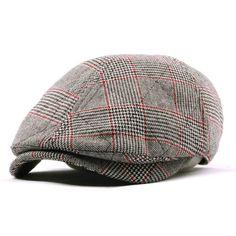 New Mens Flat Cap Tweed Cabbie Hat Gatsby Ivy Irish Newsboy Caps-JRH074K