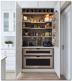 If you are looking for Kitchen Pantry Design Ideas, You come to the right place. Below are the Kitchen Pantry Design Ideas. This post about Kitchen Pantry Desi. Clever Kitchen Storage, Kitchen Pantry Design, Kitchen Pantry Cabinets, Kitchen Decor, Kitchen Ideas, Kitchen Organization, Kitchen Units, Island Kitchen, Best Kitchen Layout