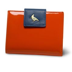 oneoddbird orangegrove wren - this perky patent and soft, buttery leather wallet takes functionality to new heights with plenty of room for cards, bills, receipts, and a hidden zipper that opens to a coin purse. choose from a gaggle of uplifting color combinations and watch out for pop of whimsy sewn into every piece.