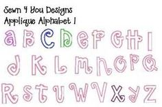 Fabric Letter Applique Patterns Free - Bing images