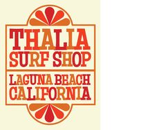 Thalia Surf Shop signage
