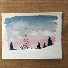 """2,288 Likes, 21 Comments - Sarah Hernandez (@lostswissmiss) on Instagram: """"Little watercolour drawing. Still love to do this little ones. If I get the time it would be…"""""""