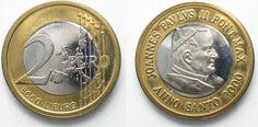 2000 Vatikan - Proben VATICAN 2 Euro 2000 ECCO L'EURO bi-metallic RARE!!! # 95438 UNC
