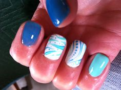 Nathan at Angel Nails in Seaside, CA did this design for me for CSUMB graduation 2013.