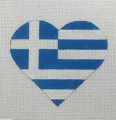 HT23 Greek Flag Heart