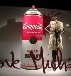 ''I love Michael Kors'' Window Display at Printemps in Paris: Michael Kors & Campbell's Soup Spray Paint