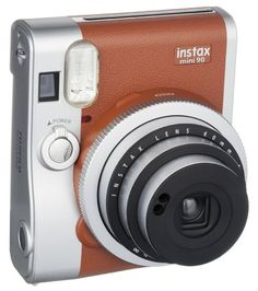 13d69ad932b4 Amazon.com   Fujifilm Instax Mini 90 Instant Film Camera (Brown)   Camera