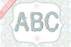 Check out Floral alphabet. on Creative Market