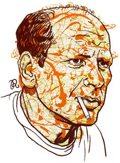 Master of the Month :: Jackson Pollock << Illustration Friday Portrait of Jackson Pollock by Rama Hughes