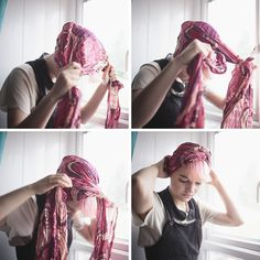 Dresses on a Clothesline: Hair tutorial: How to tie a scarf in 7 ways!