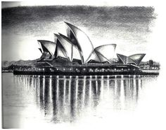 Sydney Opera House Carbon Drawing. #ariktrejos