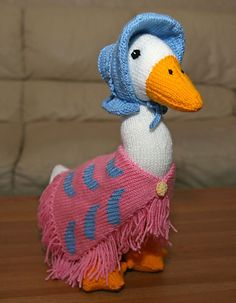 Ravelry: Jemima Puddleduck pattern by Alan Dart. Mother Goose for the new GrandBaby