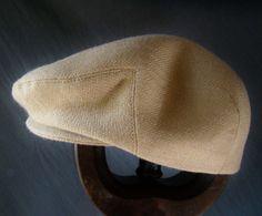 Custom Handmade Boy's Camel Wool Hat - Golf Cap Flat Jeff Cap, Ivy Cap, Driving Cap for Boys, Toddler, & Baby Too
