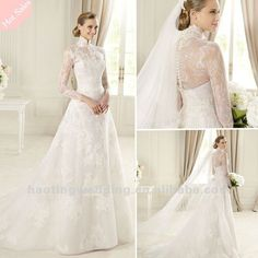 Take this dress and make the long sleeve lace into a removable jacket add a halter top and some purple then it is #absolutejoy    The newest fashion long sleeve lace wedding dresses 2013