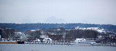 Winter am Hafen von Kloster Insel Hiddensee von Robert Ott