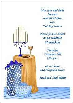 Invite Wording Suggestions For Your Religious Holiday Chanukah Party Celebrations At Invitations Shoppe Online