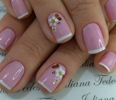Image may contain: one or more people and closeup Short Nail Manicure, Manicure And Pedicure, Toe Nails, Pink Nails, Fall Nail Art Designs, Fingernail Designs, Instagram Nails, Minimalist Nails, Powder Nails