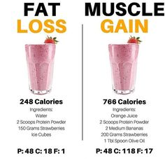 Very useful post by showing the versatility of protein smoothies/shakes. Protein shakes can be used as a low calorie snack when trying to lose weight or my personal favorite is using them as a way to sneak in a bunch of unnoticeable extra cal Weight Loss Smoothies, Healthy Smoothies, Healthy Drinks, Weight Loss Protein Shakes, Whey Protein Smoothies, Protein Powder Shakes, Fat Burning Smoothies, Healthy Recipes, Fruit Smoothies