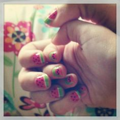 Mommy and me nails.  :)