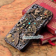Nokia Lumia 520 521 610 710 720 800 820 900 920 928 1020 Case,Nokia N9 Nokia N8 Case Bling Vintage Retro Butterfly Bird Bowknot Unique Case